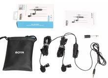 BOYA BY-M1DM : Dual Lavalier Universal Microphoneمايك بويا  جديد
