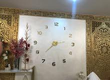 ساعة حائط استيكر 3D