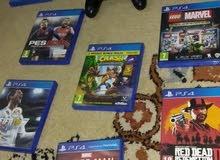 بلايستيشن 4 سليم و 8 أقراص ألعاب الفيديو