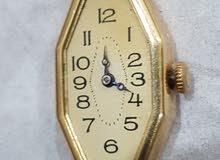 ساعة يد ذهب نسائية قديمه 14k صناعة يدوية منذ عام 1928