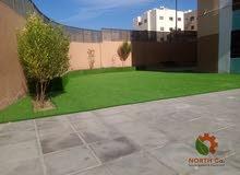 عشب صناعي للحدائق بخامات متعددة