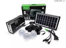 جهاز اضاءة صغير 4 لمبات على الطاقة الشمسية