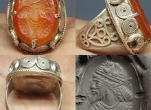 خاتم فضة قديم يقدر عمرة 300 عام تحفة رائعة