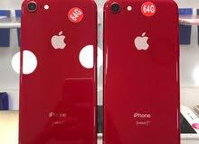ايفون 8 / 64 احمر مستعمل بحاله وكاله + كفاله سنه + كفاله شركه أبل