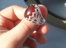 خاتم عقيق قديم