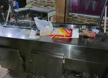 معدات مطعم مستعملة عدة شاورما كاملة عدة فلافل جميع عدة سناكات بسطات طاولات ع