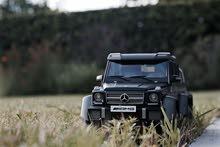 مجسم مرسيدس جي كلاس لون اسود مطفي Mercedes g63 6x6 scale model matte black