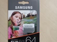 Samsung micro sd 64GB ميموري