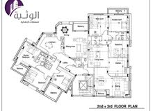 شقق للبيع أو للإيجارمفروش أو غير مفروش منطقة الجبيهة سوبر ديلوكس طوابق متعددة  175م مربع