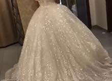 للإيجار فستان عروس اخر موديل ملبوس مره واحده.