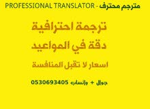 مترجم محترف - Professional Translator
