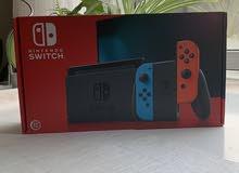 للبيع جهاز نينتندو  Nintendo switch  جديد