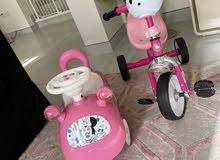 سيارة ميني ماوس و دراجة هللو كيتي