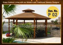 Wooden Gazebo in Arabian Ranches  Octagonal Gazebo  Claystone Gazebo Suppliers over all UAE