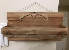 رف خشب - wood shelf