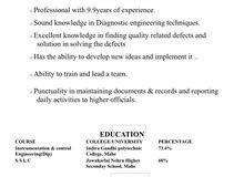 I'm looking for bio-medical engineering job