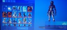 حساب فورت نايت أكثر 200 سكن +ألعاب ابيك24 ولعبة قراند 5 كل مواصفات الحساب في وصف