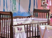 تصفية على سرير بيبي خشب زان ، صنع فلسطين