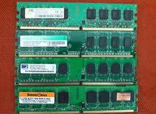 رام كمبيوتر مكتبي 1 جيجا DDR2 مستعمل و نظيف