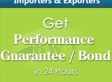 Performance Bond – Performance Guarantee for Suppliers & Contractors