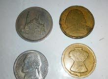 عملات قديمة ونادرة مصرية واجنبية 5cents من سنة 1958  10 مليمات
