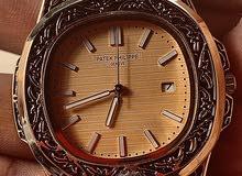 Patek Philippe hand engraved , steel bracelet