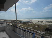 شقة 130م اول صف علي البحر مسجلة في شاطئ النخيل بالاسكندرية