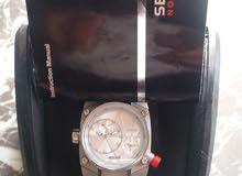 ساعة ماركة سيكتور السويسرية dual time توقيت مزدوج