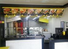 مطعم شاورما بعدته للبيع - بسعر مغري
