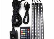 LED اضائة هادئة لصالون سيارتك الوان متعددة + ريموت