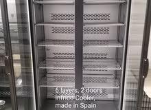 Double door upright cooler معدات مطاعم