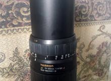 عدسة كانون مستعملة  70-300 ملي نوع Tamron  نظيفة إستيراد بريطانيا