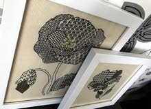 handmade embroidery blackworck Renesans Flower