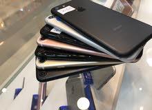 ايفون 7 128 و 256 جيجا مستعمل بحالة الجديد ولا خدش كفالة +هدية