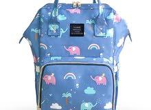 Landuo Diaper Bag Geometric Animals Printed Upgraded Large Capacity Back Bag