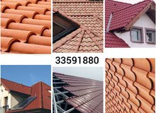 roof top clay tiles installing work in low price