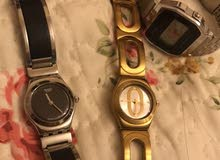 ساعات swatch , casio ,