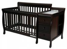 سرير للأطفال خشبي إسبريسو من جيجلز