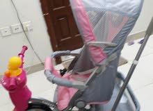 عربيه دراجه الأطفال جديده ونظيفه فيها موسيقى