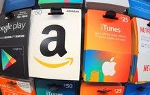 -Amazon gift card- أمازون قافت كارد - iTunes Gift Card - كروت ايتونز
