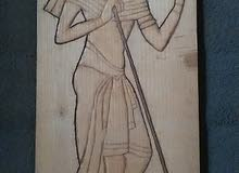 لوحات فرعونيه منحوته بدقه الحجم (50 سم*23 سم)