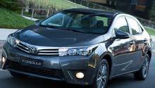 للايجار بسائق و بدون سائق تويوتا كورولا 2016