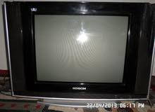 تلفزيون هدسون 21 بوصه مستعمل + منظم طاقة شمسية 10 امبير دعايه