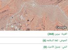 قطعة ارض 10 دونم زراعيه للبيع بيرين حوض تلعة السلامه