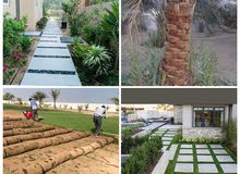 landscaping design and irrigation work