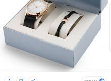 ساعة skagen الاصلية مع اسوارة جلد كفالة سنتين كفالة عالمية