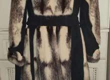 بالطو منك mink fur coat col renard