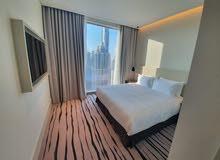 دبي داون تاون بوليفارد مقابل دبي مول 3 غرف وصالة مفروشة سوبر لوكس VIP مع بلكونة - ايجار يومي شامل