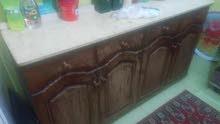مطبخ خشب 4 قطعة بالرخامة