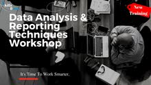 Data Analysis & Reporting Techniques using Excel 